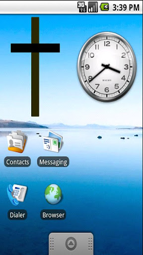 Christian Cross Sticker Widget