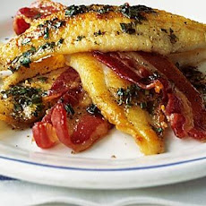 Pan-fried Fish Fillets With Crispy Bacon And Beurre Noisette
