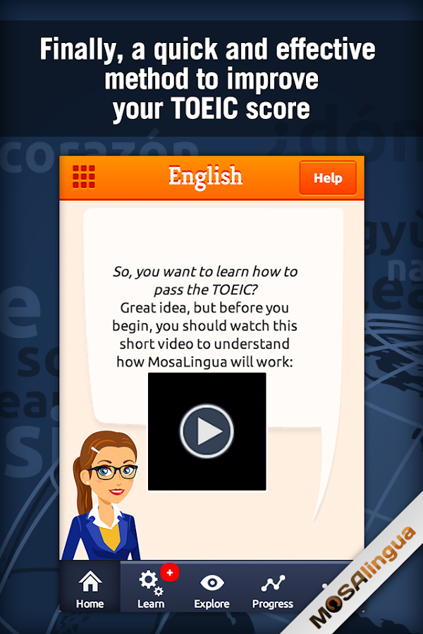 Learn TOEIC Vocabulary Screenshot