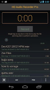 HD Audio Recorder- screenshot thumbnail