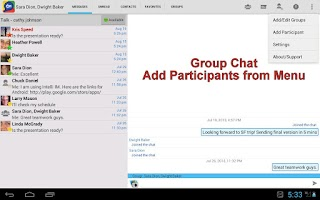 Screenshot of Intelli IM - Lync, OCS, GTalk
