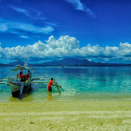 Boatman by Doc Gio Gange Dmdrn - Landscapes Waterscapes