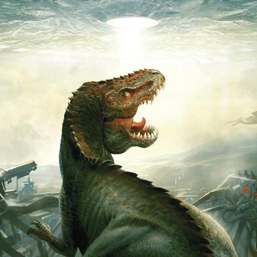 Dinosaurs vs Aliens FCBD LOGO-APP點子