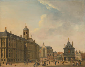 RIJKS: Jan Ekels: View of the Dam in Amsterdam 1781