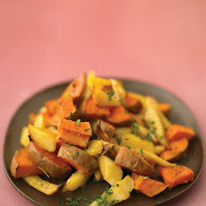 Maple-Glazed Parsnips And Sweet Potatoes