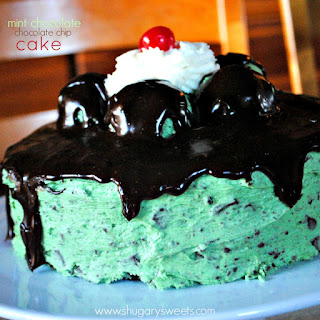 Chocolate Cake with Mint Chocolate Chip Frosting