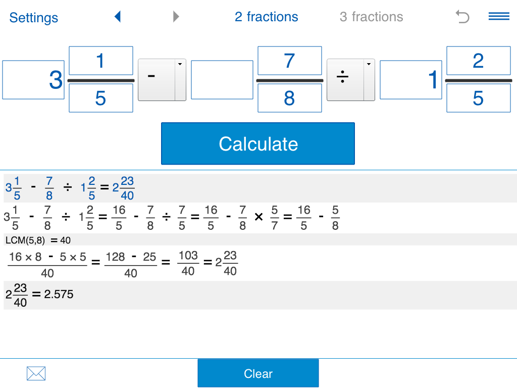 Fraction calculator Screenshot 6
