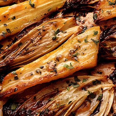 Honey-Roasted Belgian Endives and Parsnips