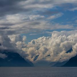 Sørfjorden by Olav Aga - Landscapes Weather ( clouds, sørfjorden, hardanger, western norway, fjords, norway, mist,  )