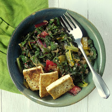 Swiss Chard With Horseradish and Pan-Fried Tofu