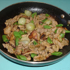Pork and Mushroom Coriander Stir Fry