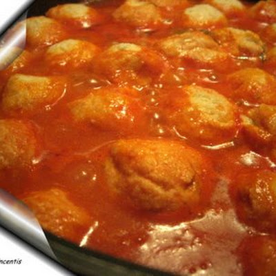 Stewed Ricotta Cheese Dumplings
