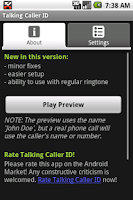 Screenshot of Talking Caller ID (free)