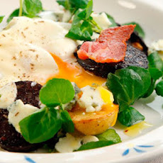Warm black pudding, Wicklow cheese and egg salad