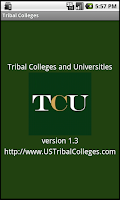 Screenshot of Tribal Colleges Native Indians