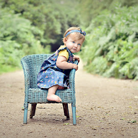 Chair by Melanie Pista - Babies & Children Toddlers ( chair, wicker, blue, forest, baby, woods )