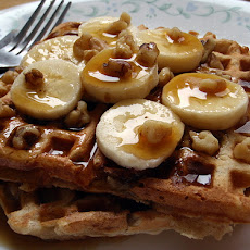 Banana Bread Waffles With Cinnamon Butter