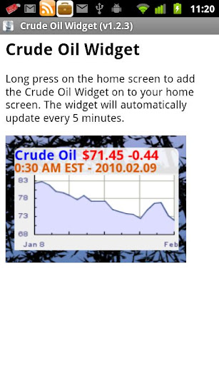 Crude Oil Widget