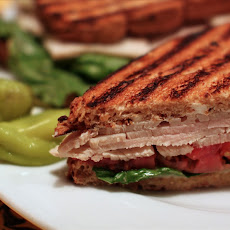 Grilled Ham and Cheese Sourdough Sandwiches