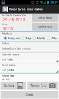 Screenshot of Planificador de tareas