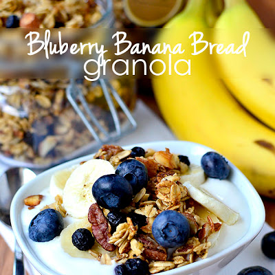Blueberry Banana Bread Granola