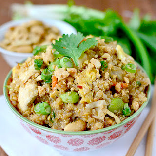 Thai Peanut Chicken Quinoa Bowls