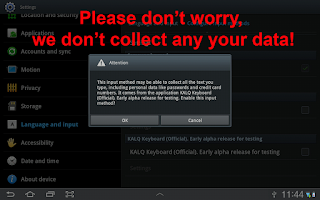 Screenshot of KALQ Keyboard (Official) Beta