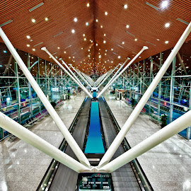 Alone at KLIA by Antonio Zarli - Buildings & Architecture Other Interior