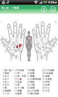 Screenshot of Hand Chart  / for Reflexology