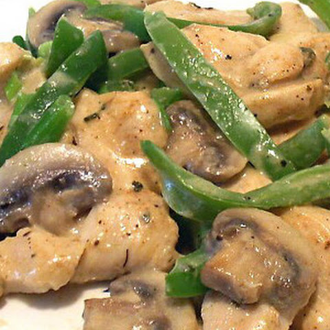 Chicken Breast Strips with Mushrooms