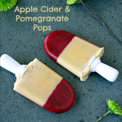Apple Pomegranate Popsicles