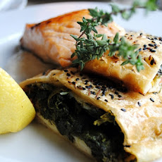 Salmon and Spinach Strudel
