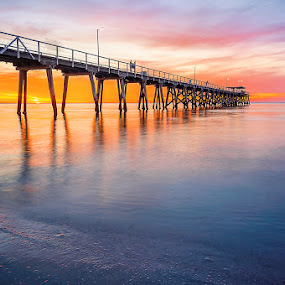 Largs Bay Jetty 6.11.2014 by Zdenka Rosecka - Buildings & Architecture Bridges & Suspended Structures