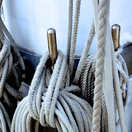 tied up by Rachel Rachel - Artistic Objects Industrial Objects ( detail, rope, ship )