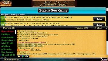 Screenshot of Hardwood Spades (Free)