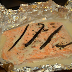 Vanilla Salmon with Coconut-Vanilla-Cardamom Brown Rice