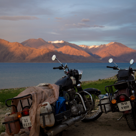 Bikers by SENTHILKUMAR KALIAPPAN - Landscapes Travel ( mountains, nature, waterscape, ladakh, travel, landscape )