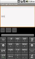 Screenshot of Flash Light Morse Code