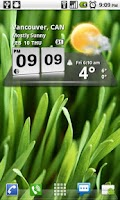 Screenshot of 3D Digital Weather Clock