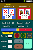 Screenshot of Mini-Baccarat
