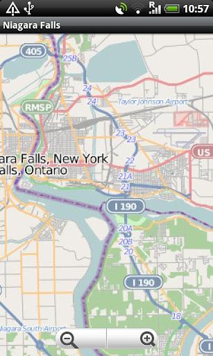 Niagara Falls Buffalo Map