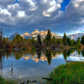by Brent Clark - Landscapes Mountains & Hills ( mountains, landscapes, grand tetons, tetons )