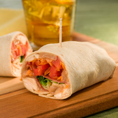 Easy Peanut Butter Chicken Wraps