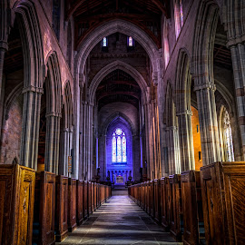 Bryn Athyn 1 by Wil Moore - Buildings & Architecture Places of Worship ( hdr, wood, church, colorful, architecture )