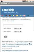 Screenshot of Sanakirja