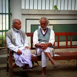 Old and wise by - Diana Raj Kumari - City,  Street & Park  Street Scenes
