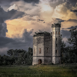 Old castle by Milos Vasic - Buildings & Architecture Decaying & Abandoned ( history, building, old, castle, storm, abandoned,  )