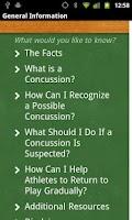 Screenshot of Concussion Recognition & Respo