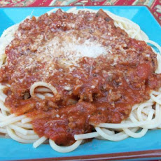 Semi-Homemade Crock Pot Spaghetti Sauce