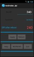 Screenshot of Texdroider DPI
